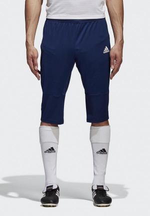 Бриджи adidas. Цвет: синий