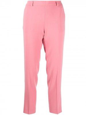 Укороченные брюки кроя слим со стрелками Alberto Biani. Цвет: розовый