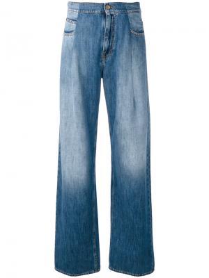 Широкие джинсы Maison Margiela. Цвет: синий