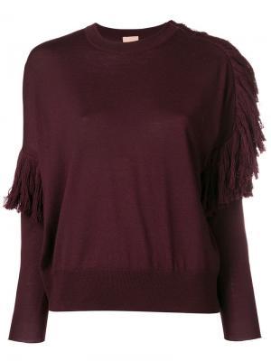 Ruffle detail sweater Nude. Цвет: красный