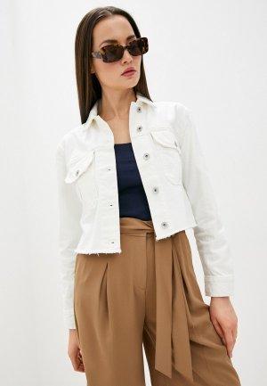 Куртка джинсовая Marks & Spencer. Цвет: белый
