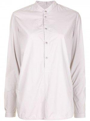 Поплиновая рубашка с воротником-стойкой Toogood. Цвет: серый