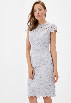 Платье Chi London. Цвет: серый