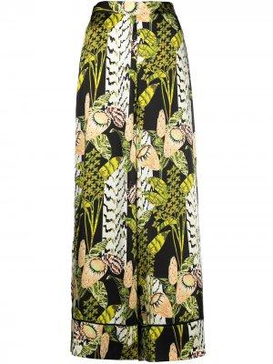 Пижамные брюки Elpis с принтом Temperley London. Цвет: зеленый