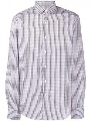 Клетчатая рубашка LANVIN. Цвет: серый