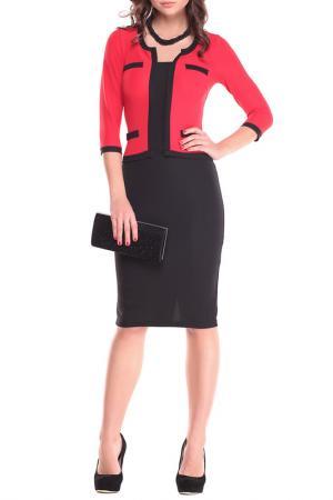 Платье MAURINI. Цвет: красный