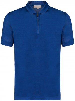 Рубашка-поло на молнии Canali. Цвет: синий