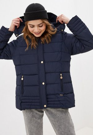 Куртка утепленная EXSY. Цвет: синий