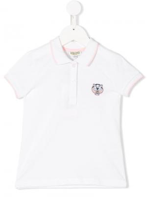 Рубашка-поло Kenzo Kids. Цвет: белый