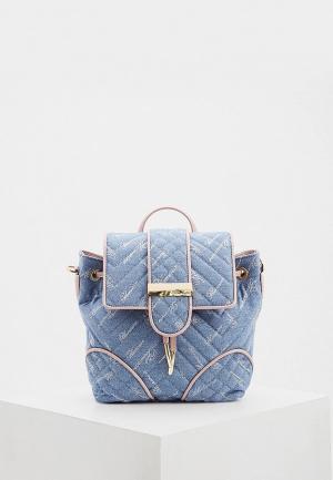 Рюкзак Blumarine. Цвет: голубой