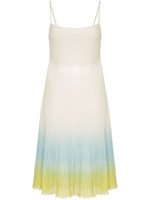 Платье La robe Helado с эффектом омбре Jacquemus. Цвет: белый