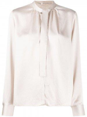 Блузка с завязками на воротнике Forte. Цвет: розовый