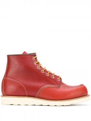 Ботинки Classic Mock Toe Red Wing Shoes. Цвет: красный