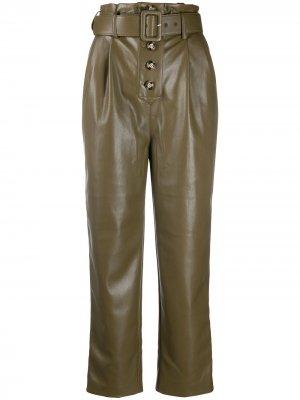 Прямые брюки Self-Portrait. Цвет: зеленый