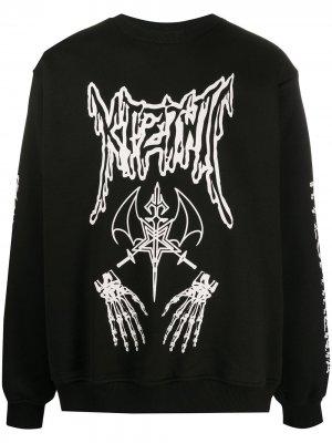 Толстовка Dead Metal с круглым вырезом KTZ. Цвет: черный