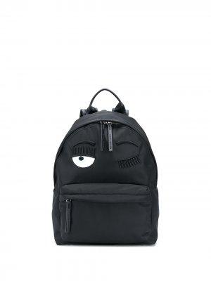Рюкзак Flirting с логотипом Chiara Ferragni. Цвет: черный