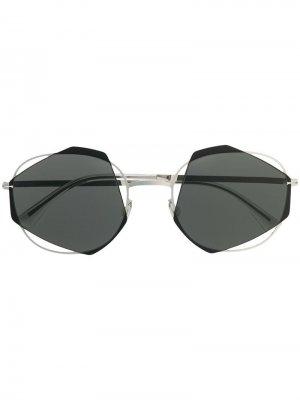 Солнцезащитные очки Achilles Mykita. Цвет: серебристый