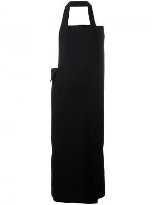 Платье-фартук Yohji Yamamoto Vintage. Цвет: черный