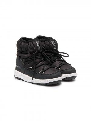 Ботинки на платформе Moon Boot Kids. Цвет: черный
