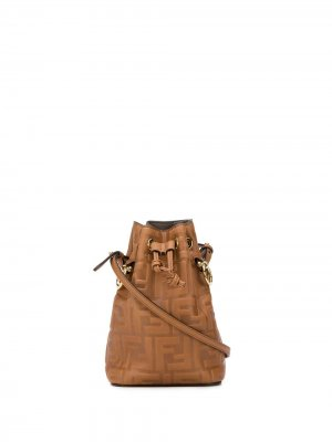 Сумка-ведро Mon Tresor размера мини Fendi. Цвет: коричневый