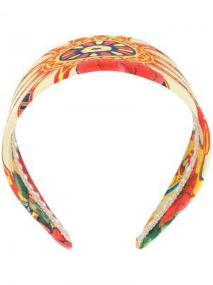 Ободок с принтом Dolce & Gabbana Vintage. Цвет: разноцветный