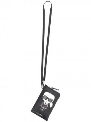 Чехол для телефона K Ikonik Karl Lagerfeld. Цвет: черный
