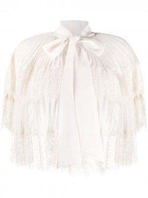 Ярусная кружевная блузка Self-Portrait. Цвет: белый