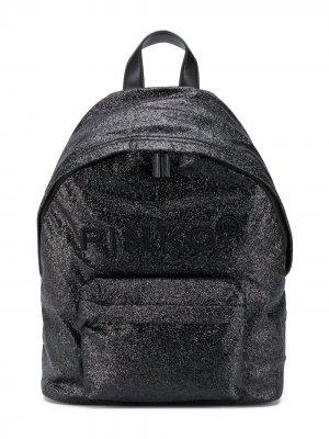 Рюкзак с вышитым логотипом Pinko Kids. Цвет: черный