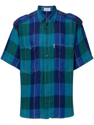 Рубашка в клетку Pierre Cardin Pre-Owned. Цвет: синий