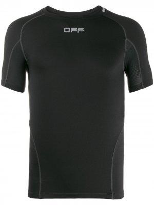 Футболка с логотипом Off-White. Цвет: черный
