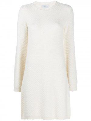 Трикотажное платье мини Blumarine. Цвет: белый