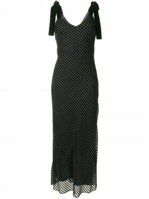 Полосатое платье макси без рукавов Dannijo. Цвет: черный