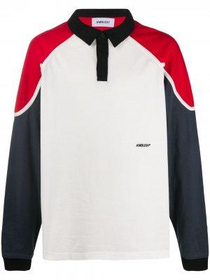 Рубашка-регби с длинными рукавами AMBUSH. Цвет: белый
