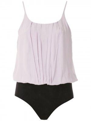 Блузка со складками Eva. Цвет: фиолетовый