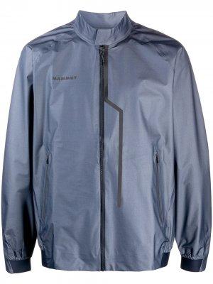 Спортивная куртка на молнии Mammut. Цвет: синий