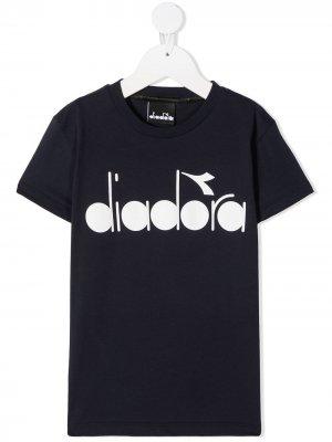 Футболка с логотипом Diadora Junior. Цвет: синий