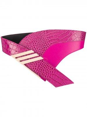 Асимметричный пояс The Attico. Цвет: розовый