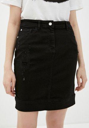 Юбка джинсовая Emporio Armani. Цвет: черный
