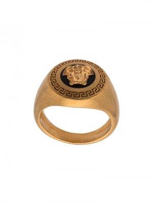 Перстень Enamel Icon Medusa Versace. Цвет: золотистый