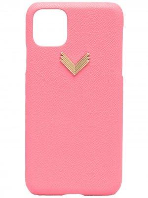Чехол для iPhone 11 Pro Max из коллаборации с Velante Manokhi. Цвет: розовый