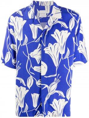 Рубашка Floral Cutout с короткими рукавами Paul Smith. Цвет: синий