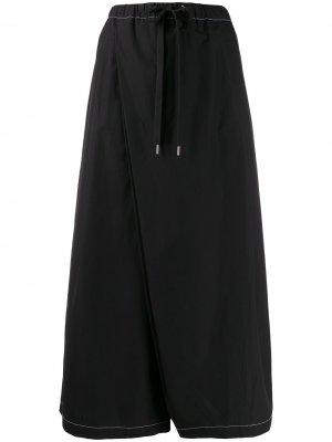 Укороченные брюки широкого кроя Marni. Цвет: черный