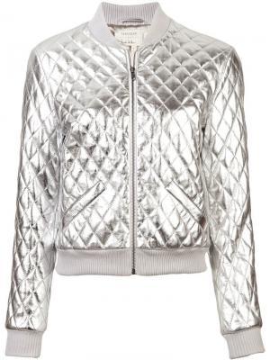 Куртка-бомбер Nicole Miller. Цвет: металлик