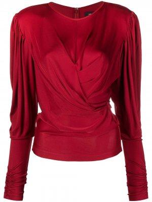 Блузка со сборками Isabel Marant. Цвет: красный