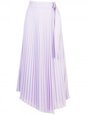Плиссированная юбка асимметричного кроя A.L.C.. Цвет: фиолетовый