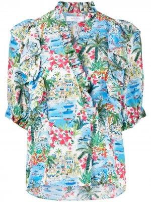 Рубашка Liberty Corfou с запахом Roseanna. Цвет: розовый