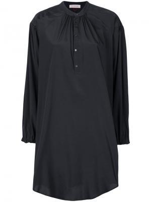 Рубашка свободного кроя с воротником -мандарин A.F.Vandevorst. Цвет: черный