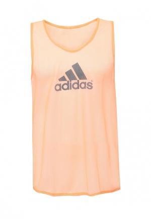 Майка спортивная adidas. Цвет: оранжевый