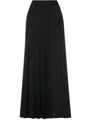 Длинная плиссированная юбка Ports 1961. Цвет: черный