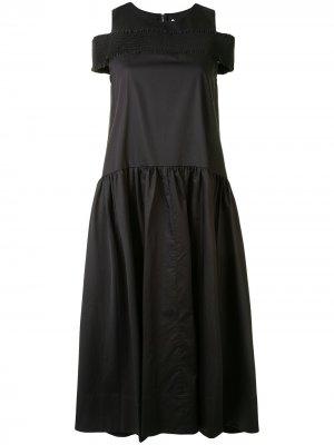 Платье без рукавов с заниженной талией Tibi. Цвет: черный